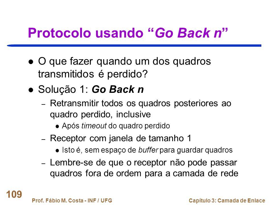 Protocolo usando Go Back n