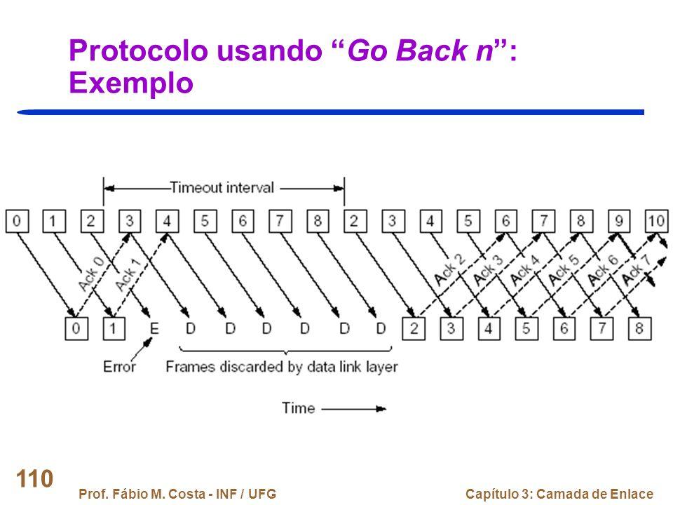 Protocolo usando Go Back n : Exemplo
