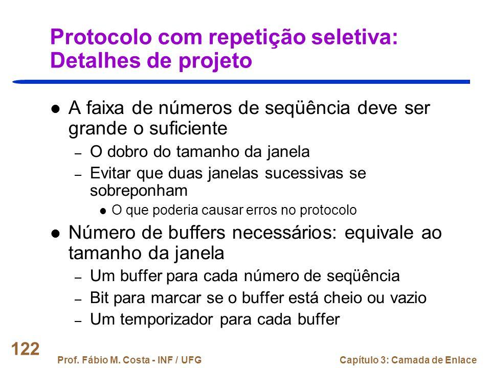 Protocolo com repetição seletiva: Detalhes de projeto
