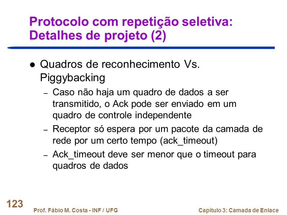Protocolo com repetição seletiva: Detalhes de projeto (2)