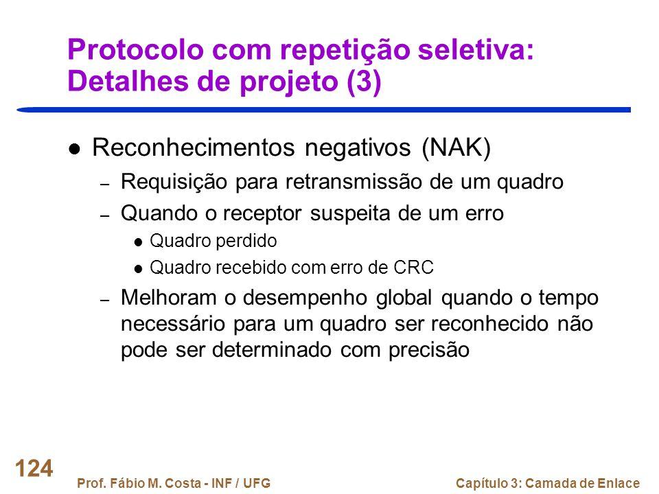 Protocolo com repetição seletiva: Detalhes de projeto (3)