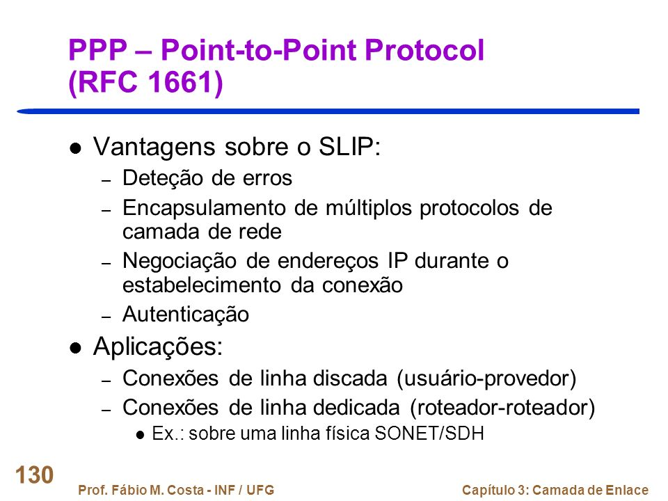 PPP – Point-to-Point Protocol (RFC 1661)