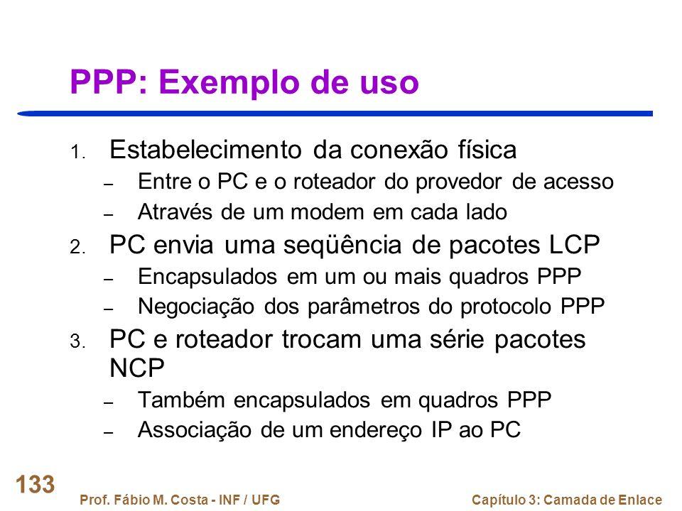 PPP: Exemplo de uso Estabelecimento da conexão física