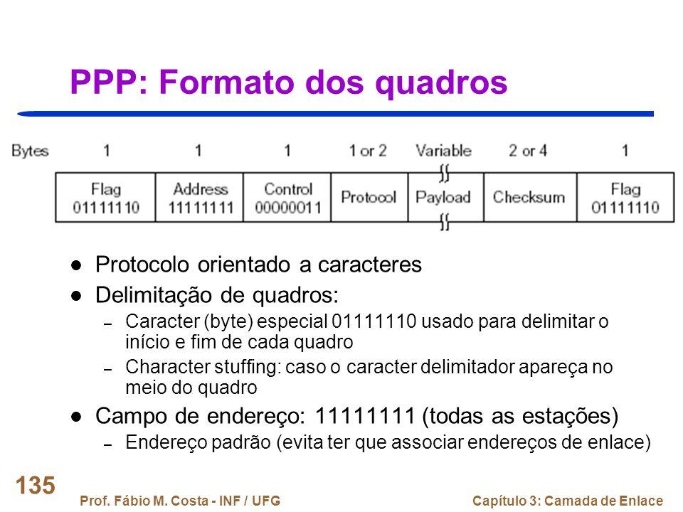PPP: Formato dos quadros