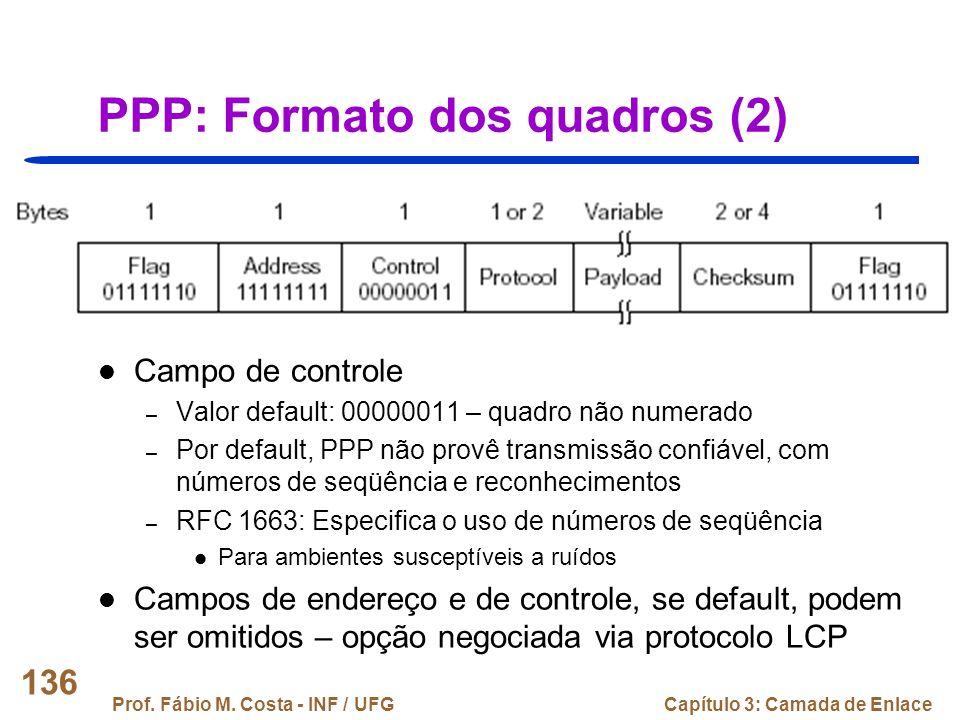 PPP: Formato dos quadros (2)