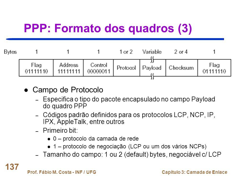 PPP: Formato dos quadros (3)