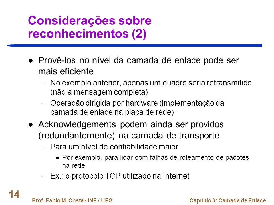 Considerações sobre reconhecimentos (2)