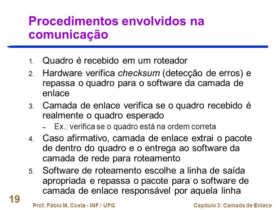Procedimentos envolvidos na comunicação