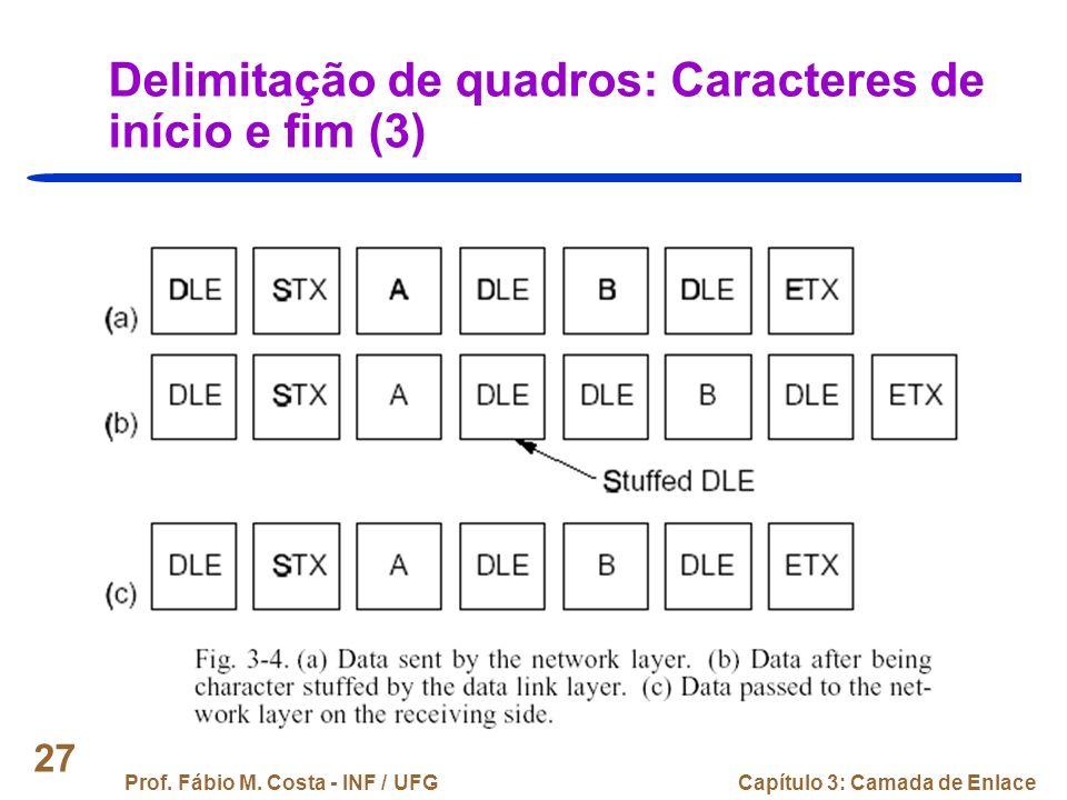 Delimitação de quadros: Caracteres de início e fim (3)