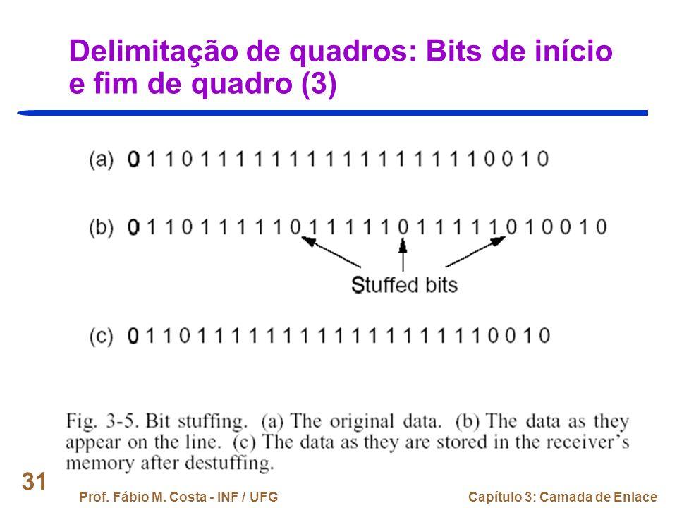 Delimitação de quadros: Bits de início e fim de quadro (3)