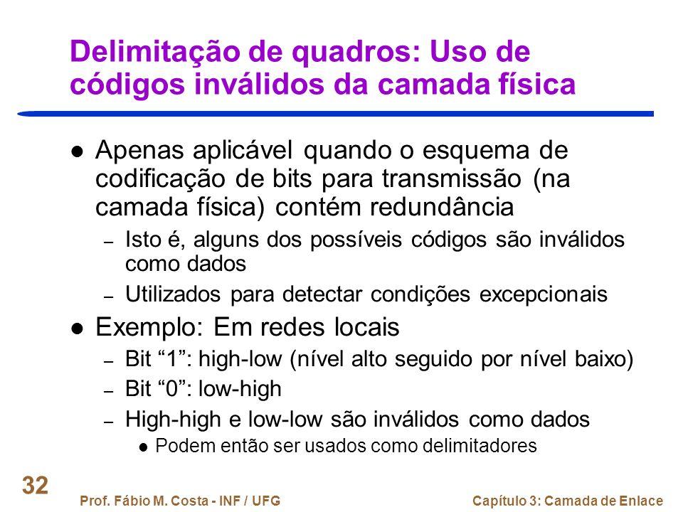 Delimitação de quadros: Uso de códigos inválidos da camada física