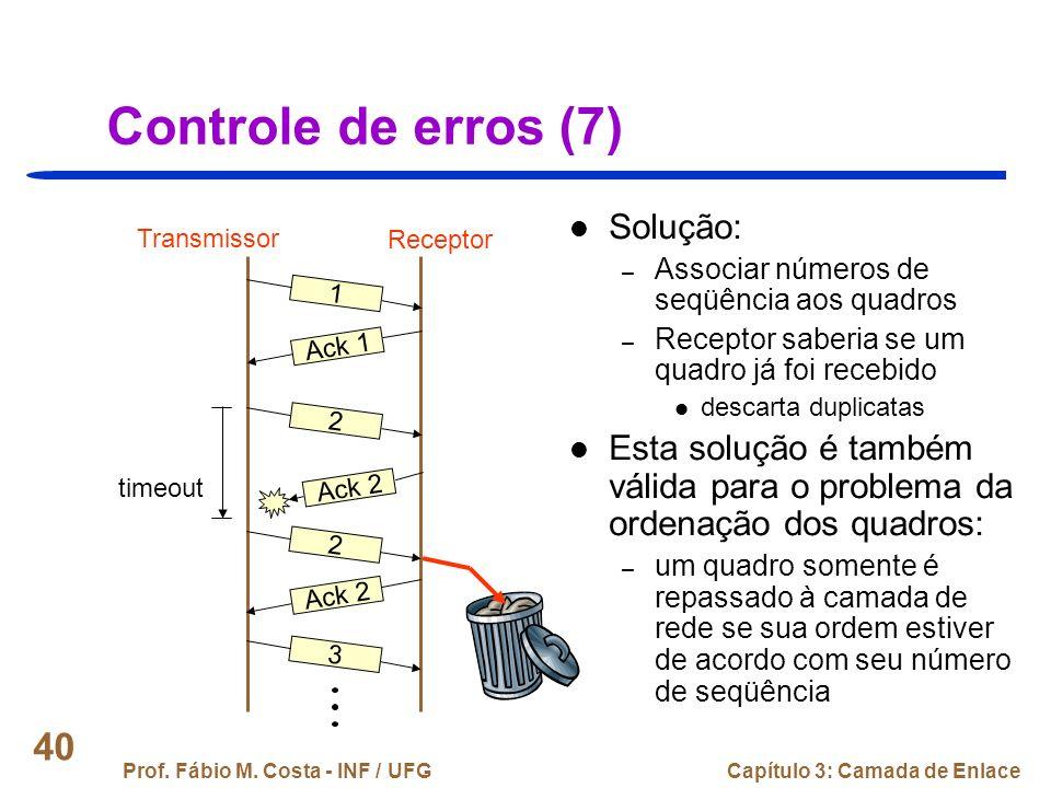 Controle de erros (7) Solução: