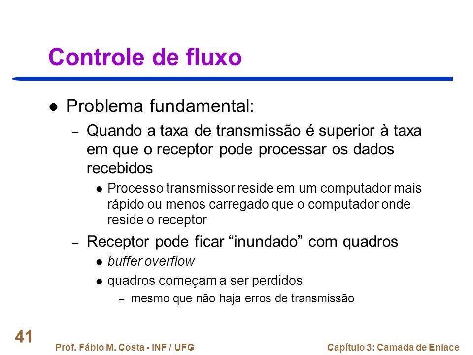Controle de fluxo Problema fundamental: