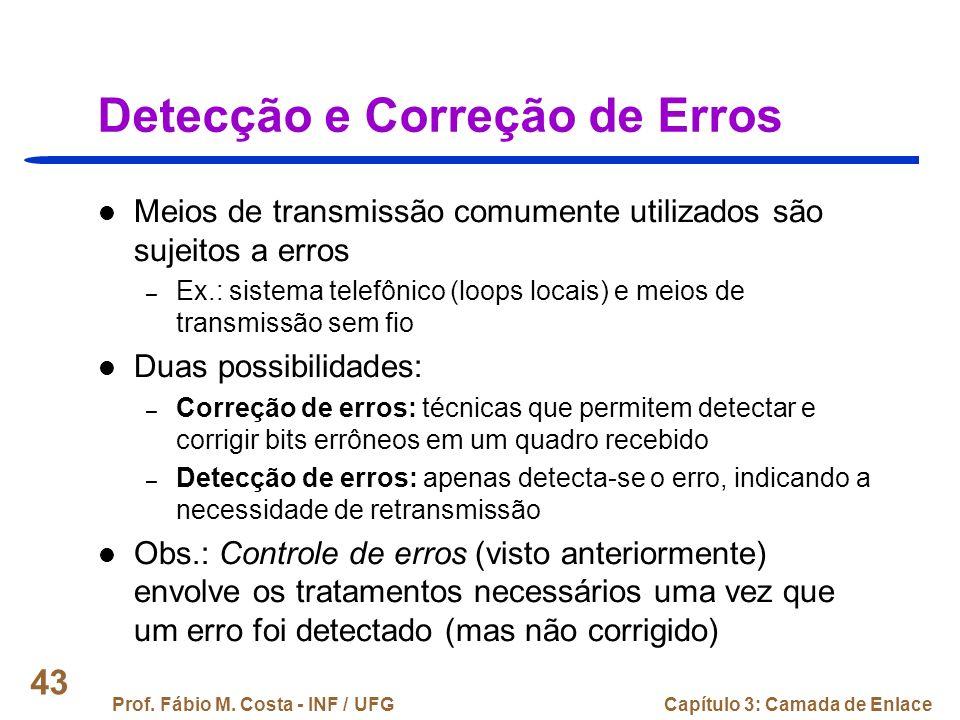 Detecção e Correção de Erros