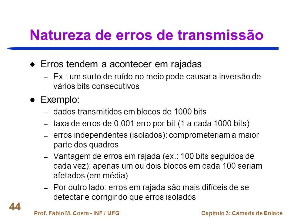 Natureza de erros de transmissão
