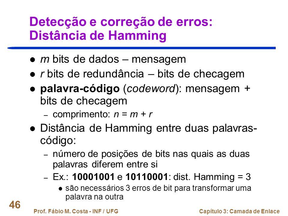 Detecção e correção de erros: Distância de Hamming