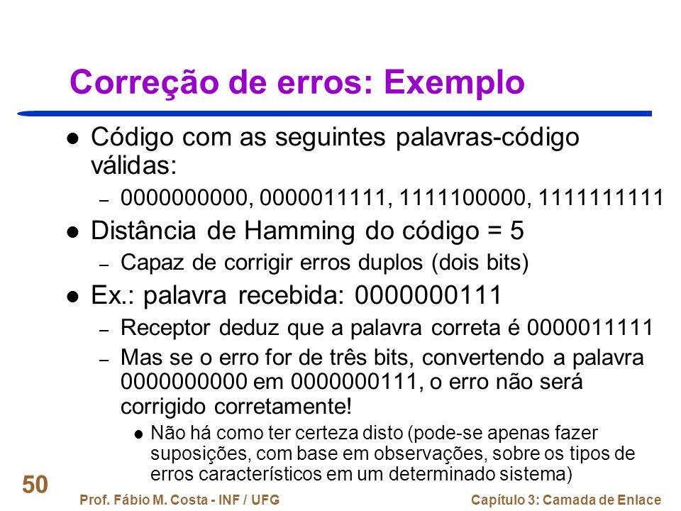 Correção de erros: Exemplo