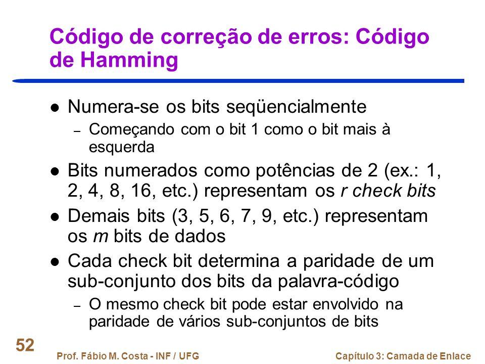 Código de correção de erros: Código de Hamming