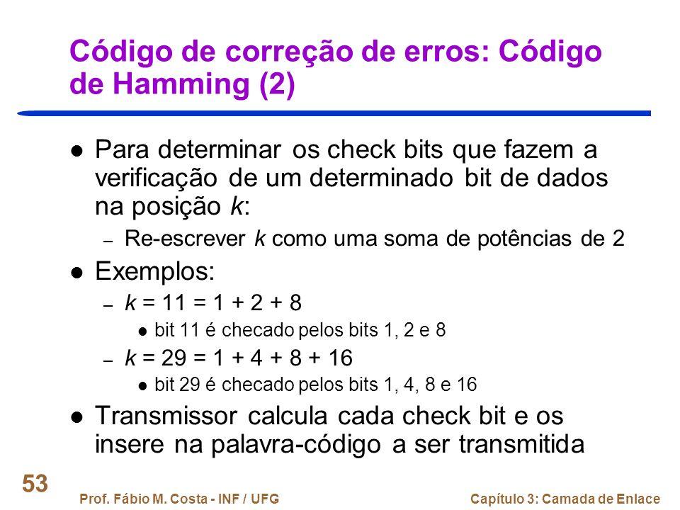 Código de correção de erros: Código de Hamming (2)