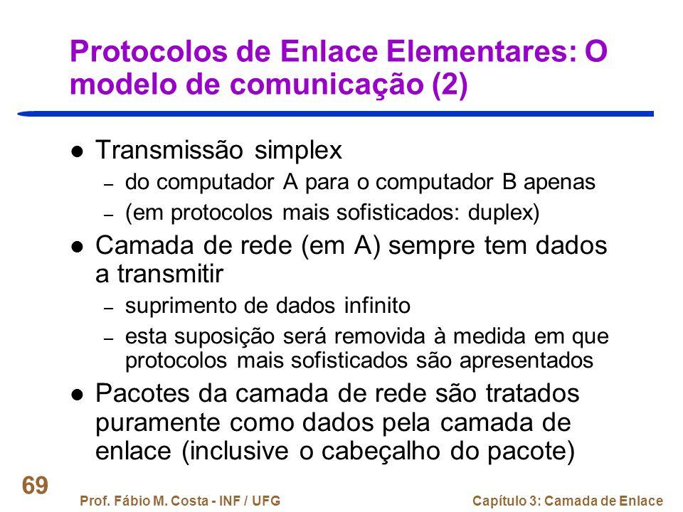 Protocolos de Enlace Elementares: O modelo de comunicação (2)