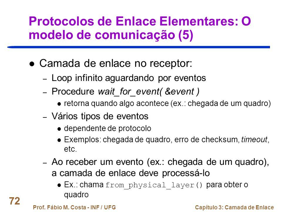 Protocolos de Enlace Elementares: O modelo de comunicação (5)
