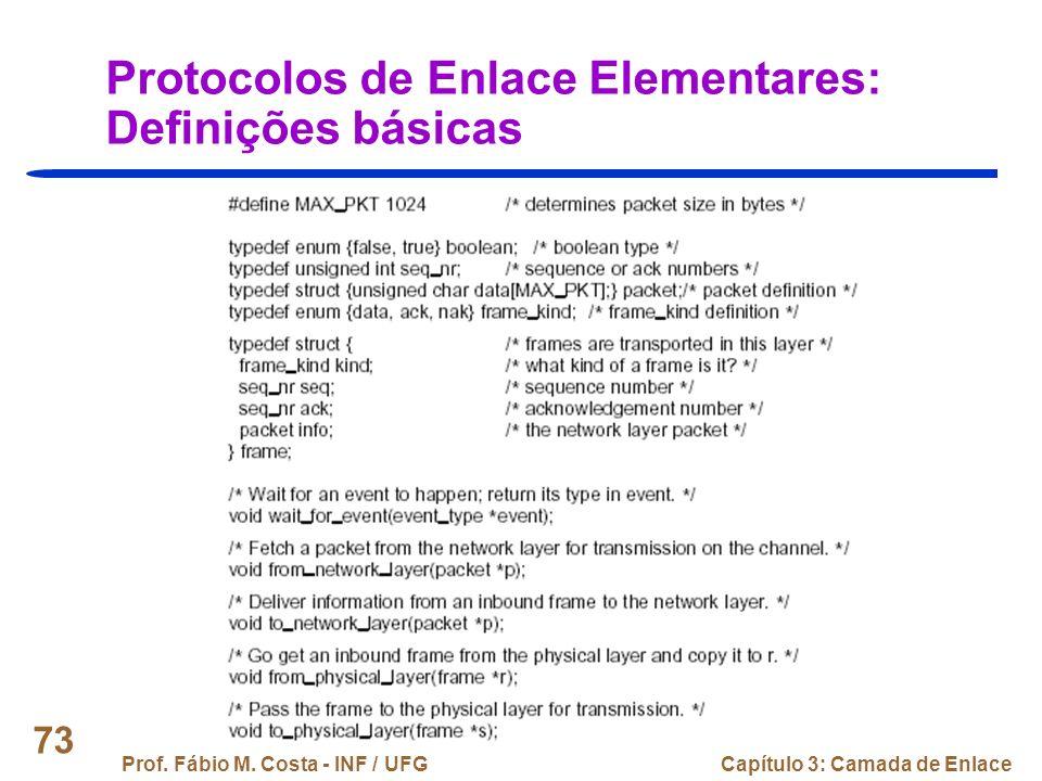 Protocolos de Enlace Elementares: Definições básicas