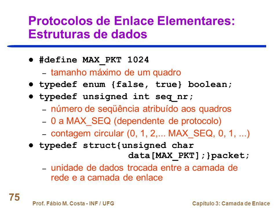 Protocolos de Enlace Elementares: Estruturas de dados