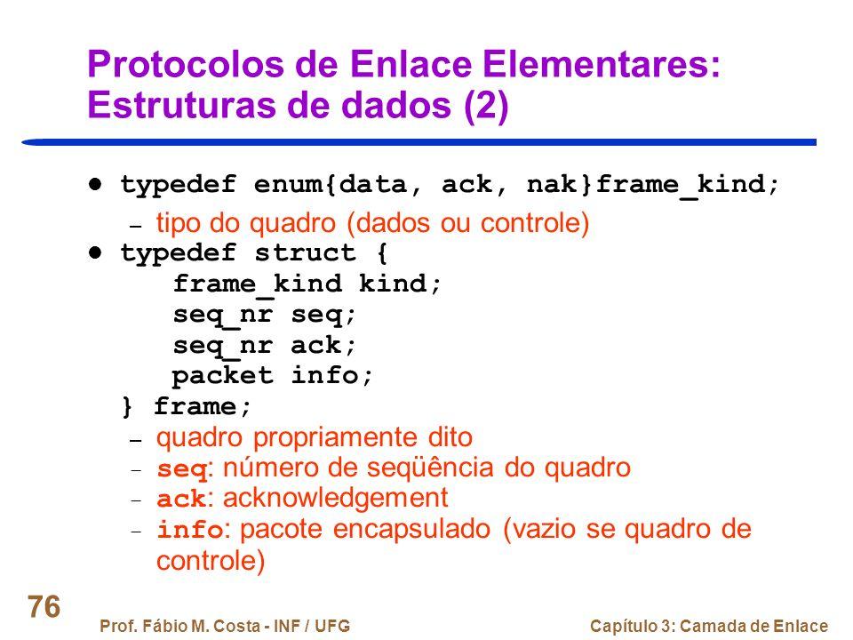 Protocolos de Enlace Elementares: Estruturas de dados (2)