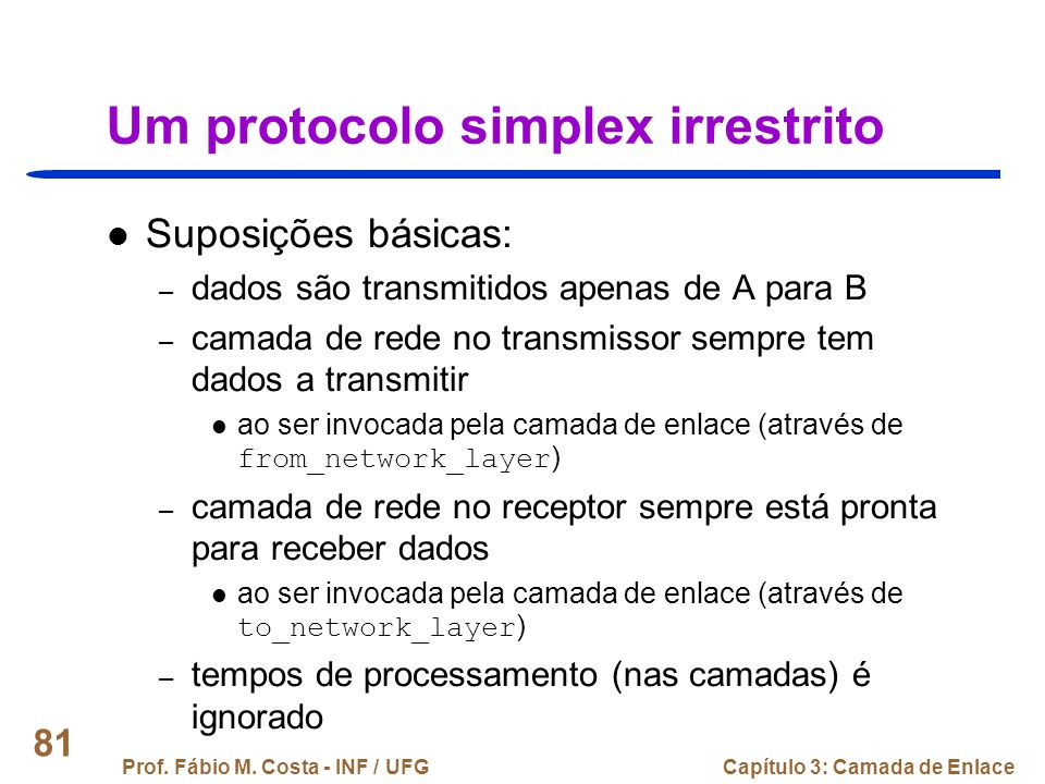 Um protocolo simplex irrestrito