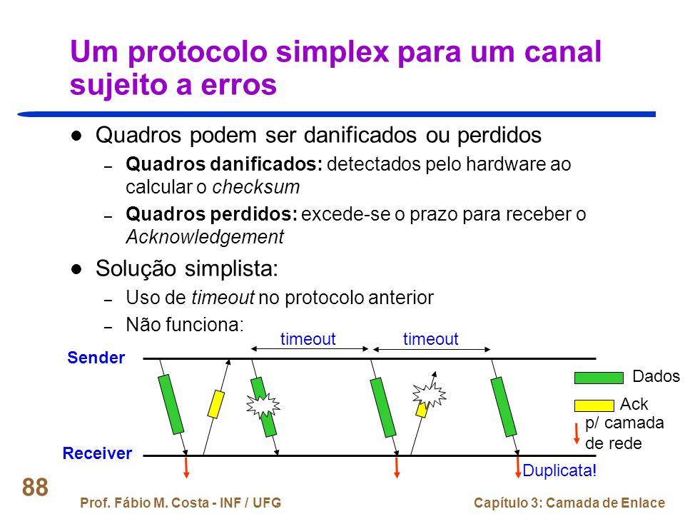 Um protocolo simplex para um canal sujeito a erros