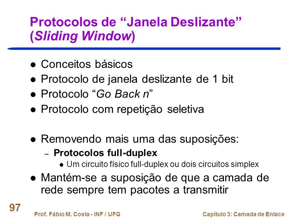 Protocolos de Janela Deslizante (Sliding Window)