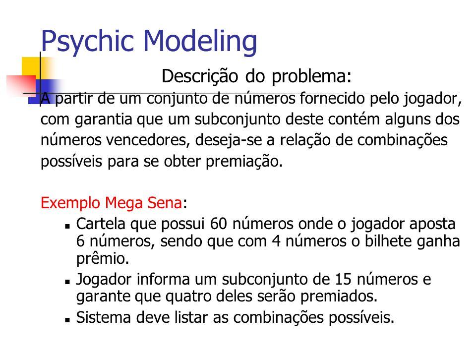 Psychic Modeling Descrição do problema: