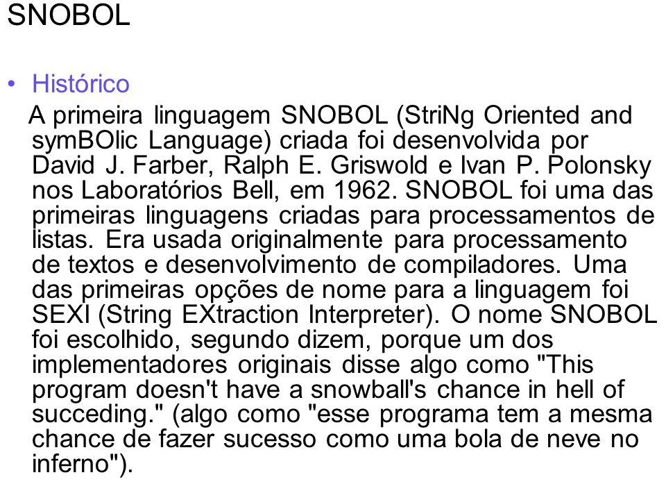 SNOBOL Histórico.