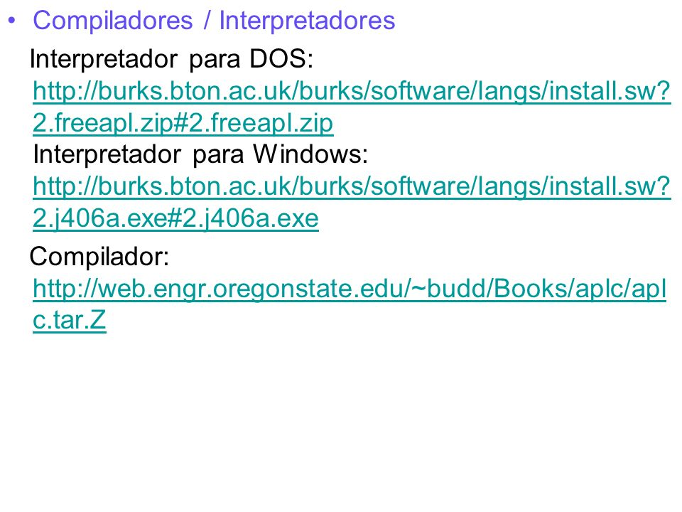 Compiladores / Interpretadores