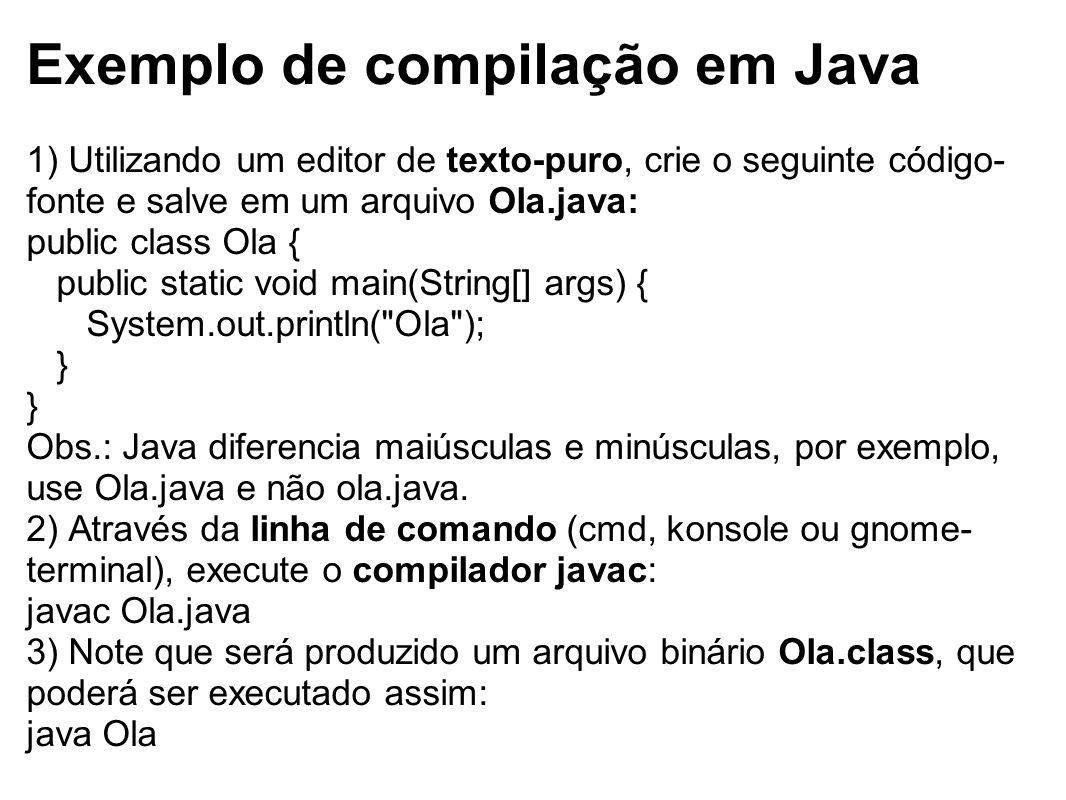 Exemplo de compilação em Java