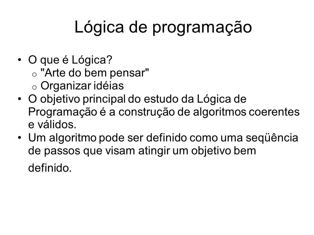 Lógica de programação O que é Lógica Arte do bem pensar