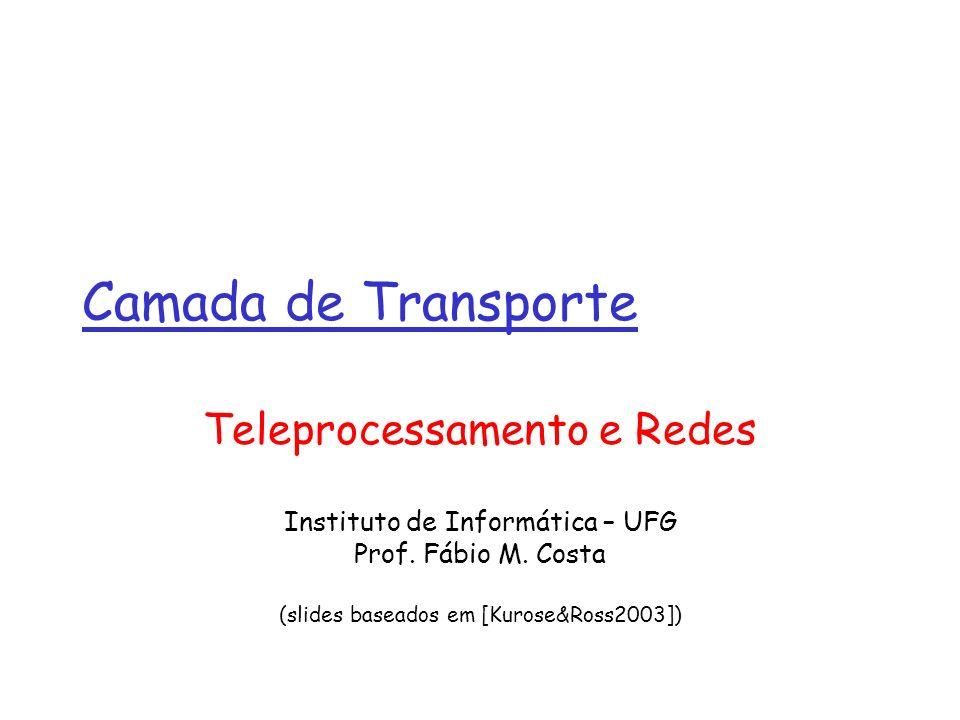 Camada de Transporte Teleprocessamento e Redes