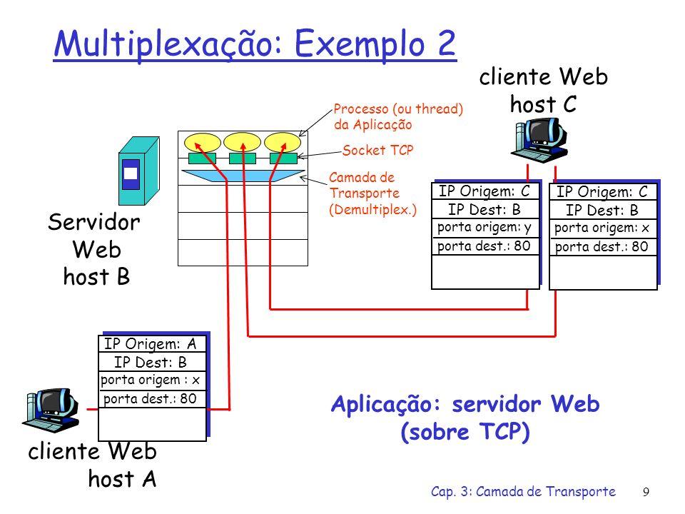 Multiplexação: Exemplo 2