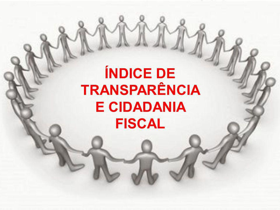 ÍNDICE DE TRANSPARÊNCIA E CIDADANIA FISCAL