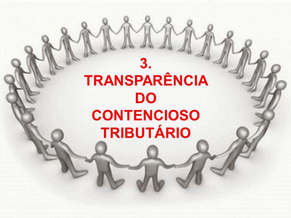 3. TRANSPARÊNCIA DO CONTENCIOSO TRIBUTÁRIO