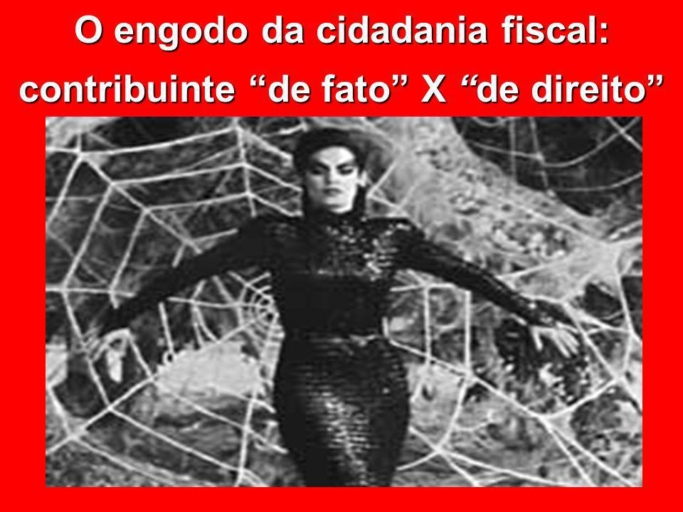 O engodo da cidadania fiscal: contribuinte de fato X de direito