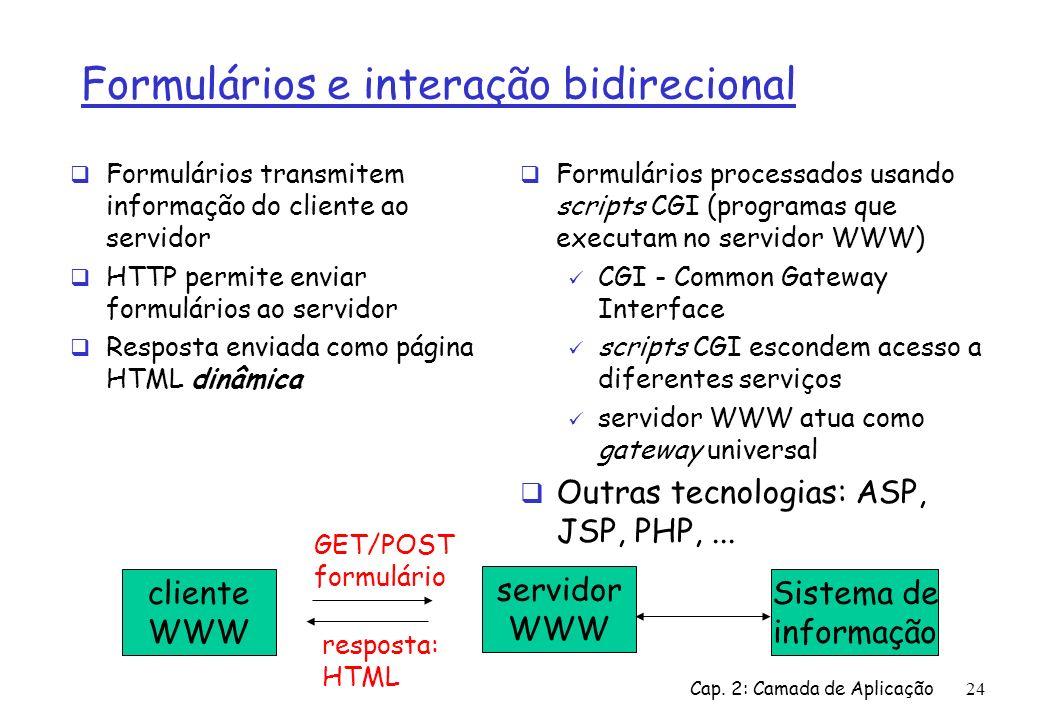 Formulários e interação bidirecional