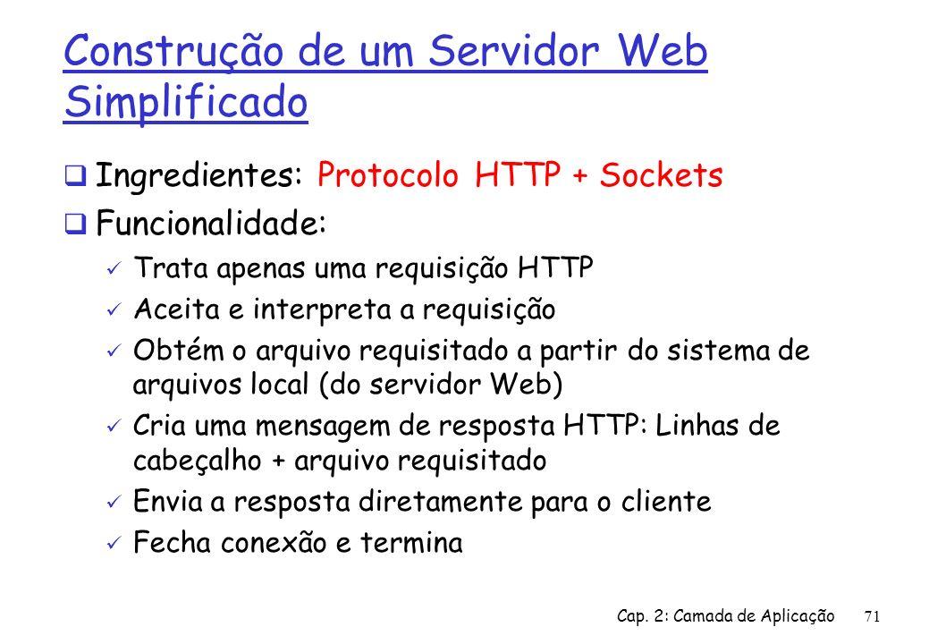 Construção de um Servidor Web Simplificado