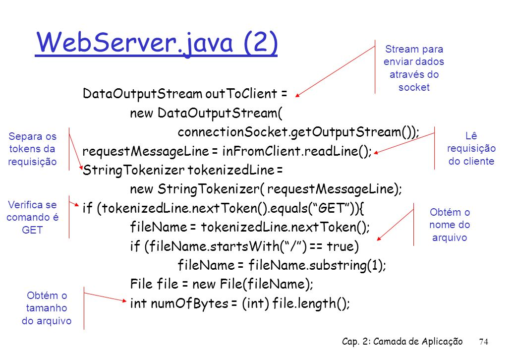 WebServer.java (2) DataOutputStream outToClient =