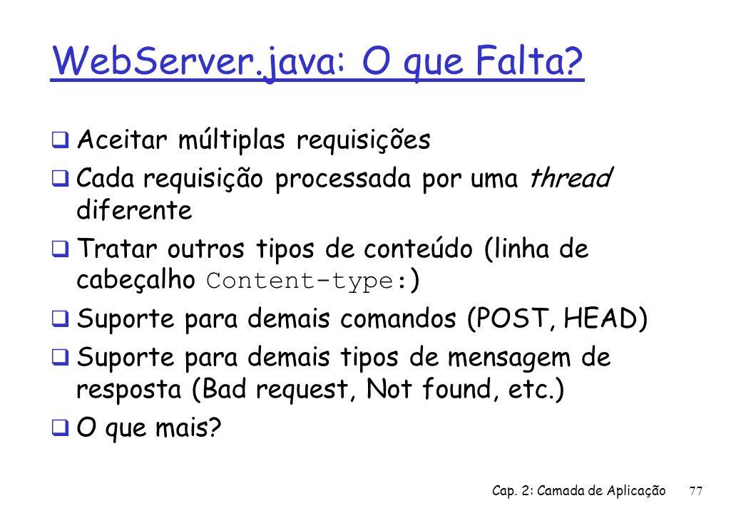 WebServer.java: O que Falta