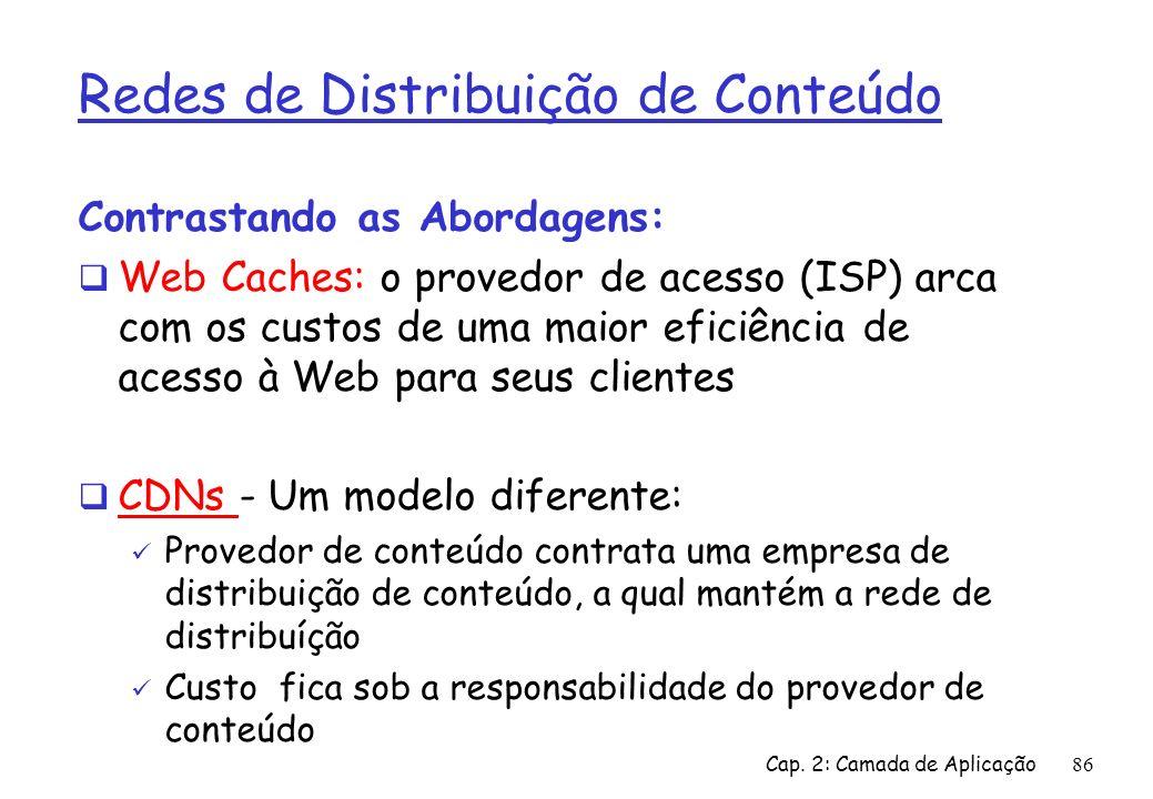 Redes de Distribuição de Conteúdo