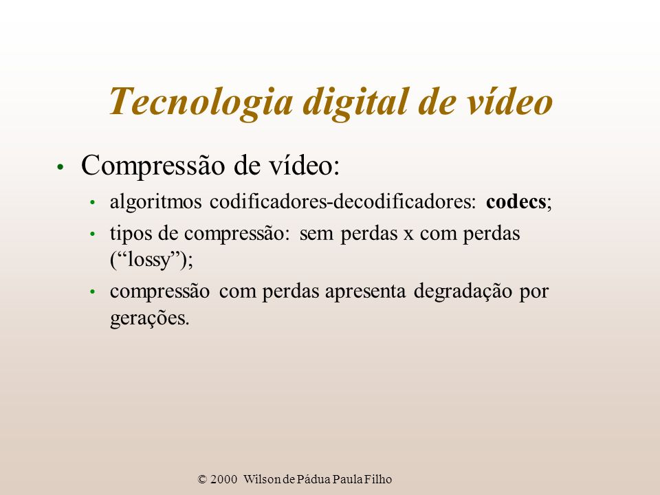 Tecnologia digital de vídeo