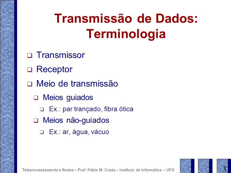 Transmissão de Dados: Terminologia