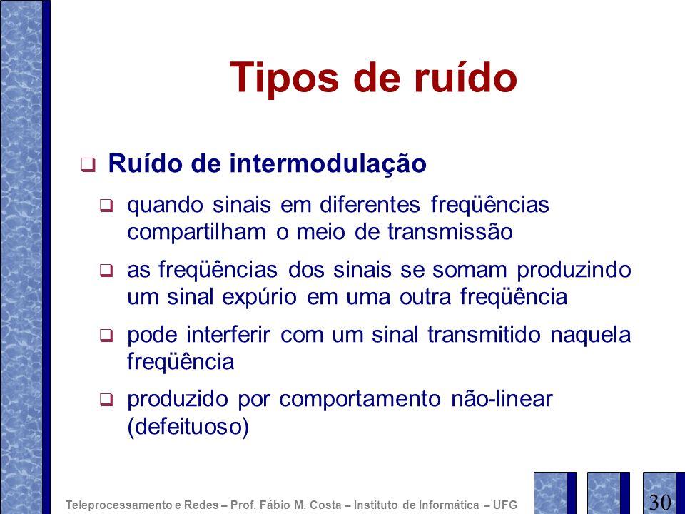 Tipos de ruído Ruído de intermodulação