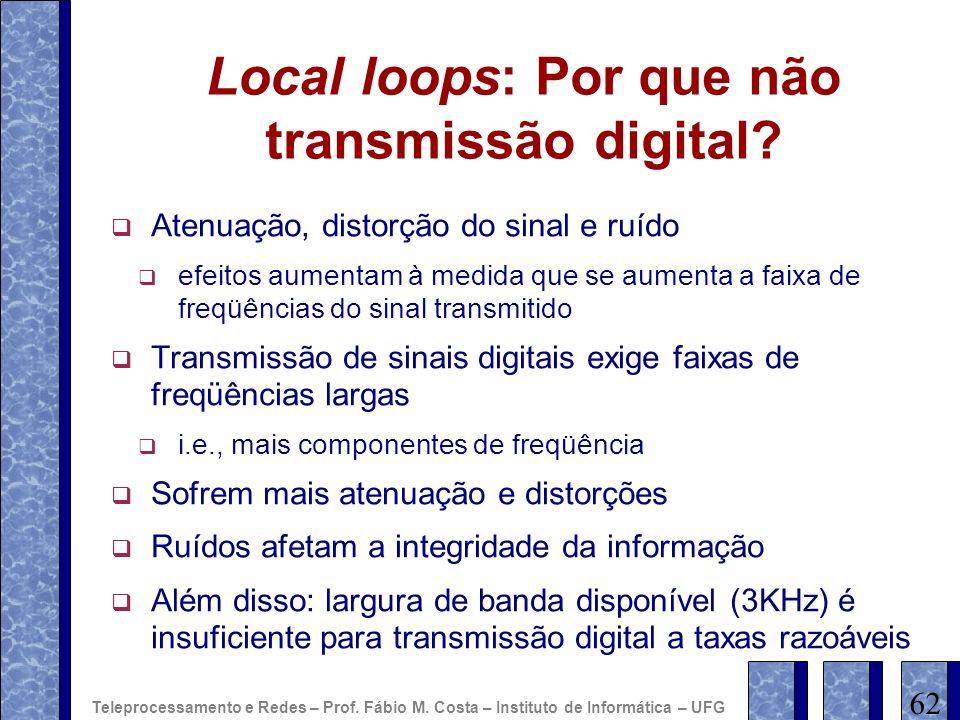Local loops: Por que não transmissão digital